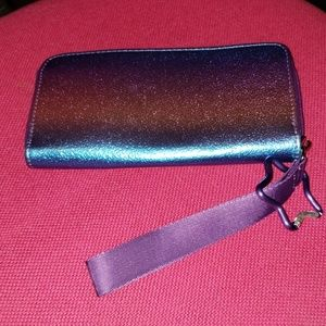 More than magic purple pink blue iridescent wallet